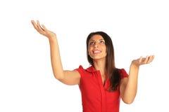 target3293_1_ target3294_0_ w górę ważącej kobiety Fotografia Stock