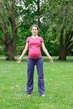 target33_0_ kobieta w ciąży Fotografia Royalty Free