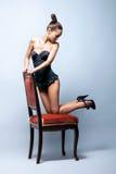 target3332_0_ kobiet retro potomstwa erotyczna bielizna Zdjęcia Stock
