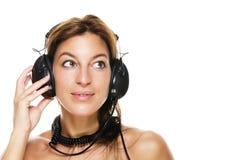 TARGET352_1_ muzyka piękna kobieta Obrazy Royalty Free