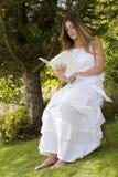 TARGET377_1_ książkowego obsiadanie romantyczna dama Obrazy Stock