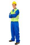TARGET378_0_ w stylu przystojny męski repairman Fotografia Stock
