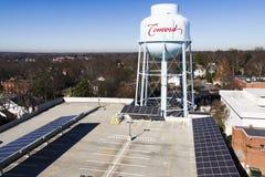 target3840_1_ projekta słonecznego dachowy garaży panel Obrazy Royalty Free