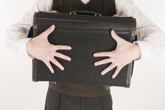 target385_0_ mężczyzna walizkę Obrazy Stock