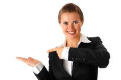 target429_0_ kobietę pusta biznes ręka kobieta Fotografia Stock