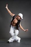 target440_0_ eleganckiego biel nakrętka tancerz Fotografia Royalty Free