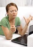 TARGET443_1_ online nieszczęśliwe młode kobiety Obrazy Stock