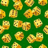target4493_1_ bezszwowego wektorowego kolor żółty tło kostka do gry ilustracja wektor