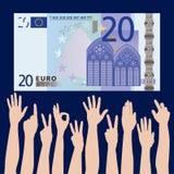 target458_0_ ręk pieniądze Zdjęcia Stock