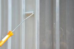 TARGET493_1_ Z Farba Rolownikiem Fotografia Royalty Free