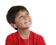 target545_0_ potomstwa szczęśliwi chłopiec hełmofony zdjęcie stock