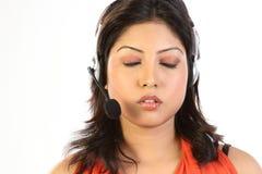 target566_0_ kobiety biznesowa słuchawki obraz stock