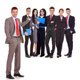 TARGET569_0_ jego pomyślnej szczęśliwej drużyny biznesowy mężczyzna Zdjęcie Royalty Free