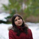 target586_0_ dziewczyny nastoletniego śnieżny Fotografia Stock