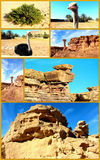 TARGET594_0_ Egipt. Kolaż pustynia. obraz stock
