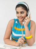 target605_0_ telefon kobieta obraz royalty free
