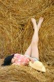TARGET607_0_ naturę piękna dziewczyna obraz stock