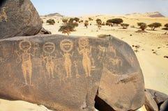 target616_0_ postacie antyczna sztuka cztery rockowy Sahara Obraz Royalty Free