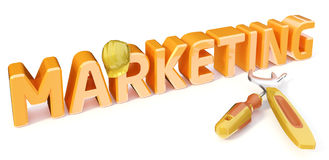 TARGET616_1_ marketing Obraz Stock