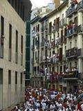 TARGET635_1_ byki w Pamplona obraz stock
