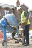 target667_0_ pracownika cementowa budowa Zdjęcie Royalty Free