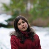 target674_0_ dziewczyny nastoletniego śnieżny Obrazy Royalty Free