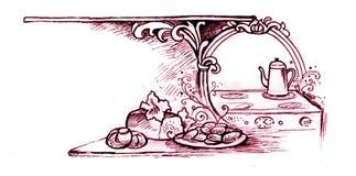 TARGET689_1_ i Kuchnia - Rocznika Styl Fotografia Stock
