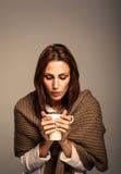 TARGET692_0_ Gorącą Kawę atrakcyjna Kobieta Obraz Stock