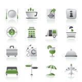 TARGET723_0_ i urlopowe ikony Obrazy Stock