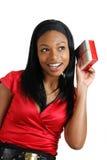 target749_1_ teraźniejszej kobiety Amerykanin afrykańskiego pochodzenia boże narodzenia Fotografia Royalty Free