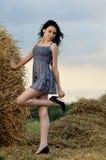 TARGET756_0_ naturę piękna dziewczyna zdjęcie stock
