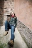 target761_0_ kobiet ściennych potomstwa piękno beton Fotografia Stock