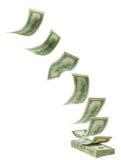 TARGET776_0_ spadać dolary Fotografia Stock