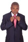 TARGET784_0_ krawat afrykański biznesmen Zdjęcia Stock
