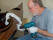 target828_1_ kajaka mężczyzna starszy paska drewno Obraz Royalty Free