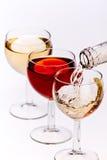 TARGET845_1_ biały wino Zdjęcie Stock