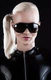 target852_0_ kobiety lateksowy kostium Obraz Stock