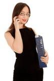 target854_0_ telefon piękny bizneswoman obraz stock