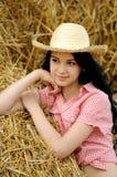 TARGET855_0_ naturę piękna dziewczyna obraz royalty free