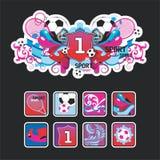 target855_0_ sporty skład ikony Obrazy Stock