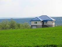 target859_1_ osamotnionego łąkowego środek zielony dom Zdjęcie Stock