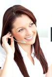target908_1_ target909_0_ bizneswomanów hełmofony używać Fotografia Stock