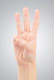 TARGET909_1_ liczbę kobiet ręki trzy Obraz Royalty Free