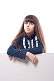 TARGET940_1_ sztandar piękna dziewczyna Zdjęcia Stock