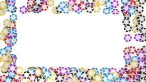 TARGET969_1_ na biel kasyn lub rulety układ scalony Zdjęcia Royalty Free