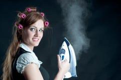 target975_1_ żelazo gorącej kobiety s Obraz Stock