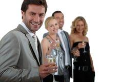 target984_0_ dwa szampańskie pary Obraz Stock