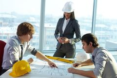 TARGET984_0_ plan budynki mieszkalne Obrazy Stock