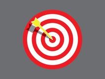 Targetboard mit Pfeil stock abbildung