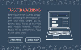 Targeted advertisement banner template for websites in vecto Stock Photography
